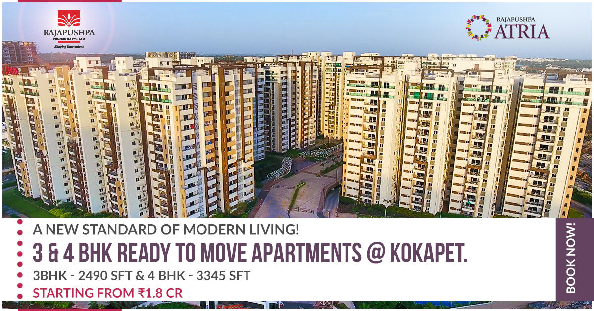 rajapushpa atria - apartments in kokapet