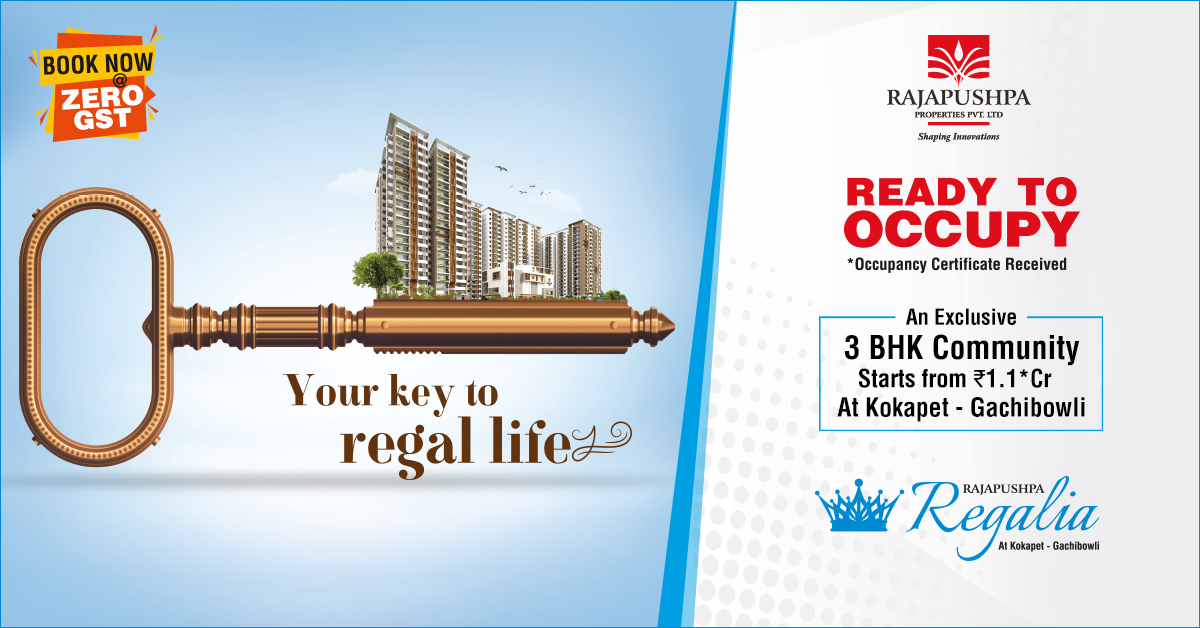 rajapushpa properties - rajapushpa regalia apartments in kokapet